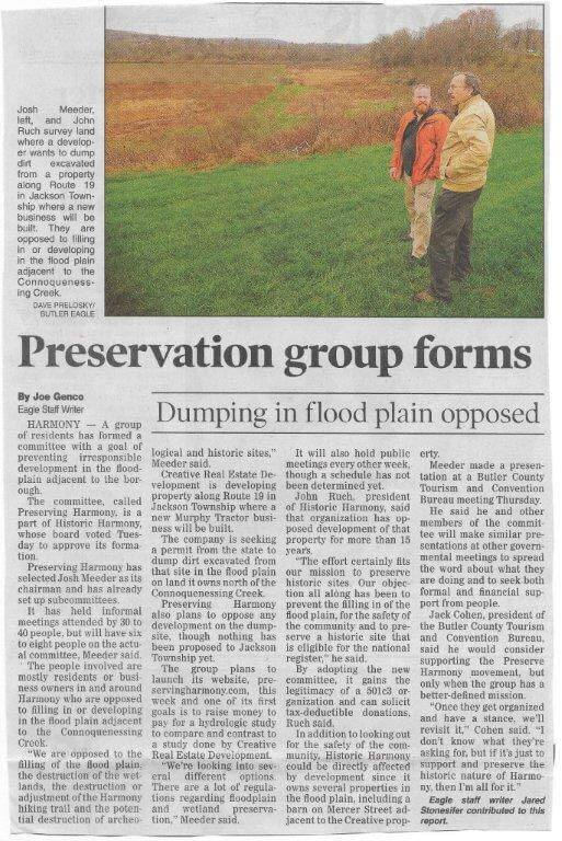 Preserving Harmony Flood Plain Article