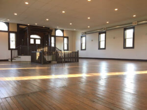 The Historic 1875 Opera Hall Wedding and Events Venue located at the Center of Harmony, Affordable, rustic, beautiful, cheap