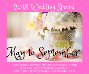 Wedding Special Deal Discount for May through September 2018