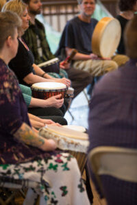 The Rhythm of Life Retreat in the Center of Harmony, drums