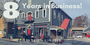 Celebrating 8 years in business, Happy 8th Anniversary